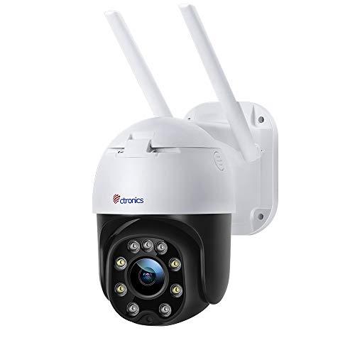 Überwachungskamera Aussen WLAN, Ctronics PTZ Dome WiFi Kamera, 1080P IP Kamera...