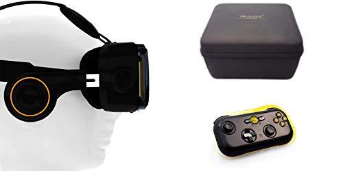 VR-Shark X4 Bundle - Virtual Reality Kit & Bluetooth Gamepad & Hardcase | VR-Brille für 4,7 - 6,1 Smartphones | Komp. mit iPhone 7 Plus Nexus /...