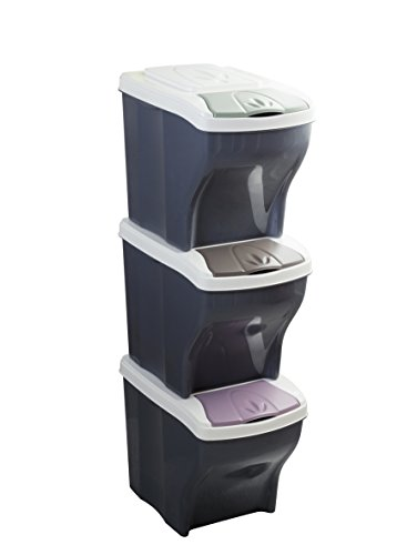 2 x 7 l separaci/ón sistema cubo de basura SO-TECH/® Multino 1 x 15 l