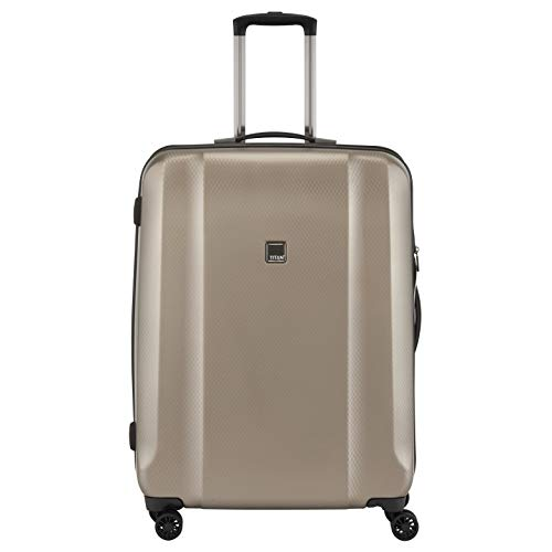 TITAN Valise trolley 'Xenon Deluxe' avec 4 roues champagne Koffer, 67 cm, 80 liters, Beige (Champagne)