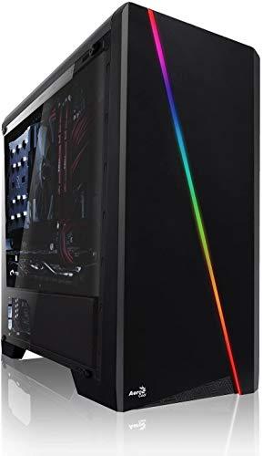 Shinobee Gaming PC mit 3 Jahren Garantie! AMD Ryzen 5 2600X 6X 4.2 GHz, NVIDIA GTX 1650 4GB, 16 GB DDR4, 256GB SSD, Windows 10 Pro 64bit, MS Office...