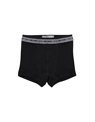 Dilling Jungen Unterhose aus 100% Bio-Merinowolle Schwarz 110-116
