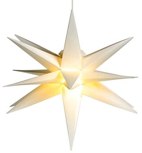 Weihnachtsstern Ø 58 cm warm-weiß LED Stern zum Aufhängen für die...