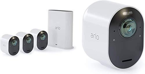 Arlo Ultra WLAN Überwachungskameras & Alarmanlage, 4K UHD, 4er Set, Smart Home,...