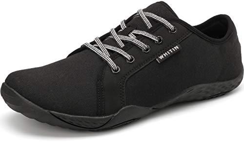 WHITIN Herren Canvas Sneaker Barfussschuhe Traillaufschuh Barfuss Schuhe Barfußschuhe Barfuß Barfußschuh Trekkingschuhe Laufschuhe für Männer...