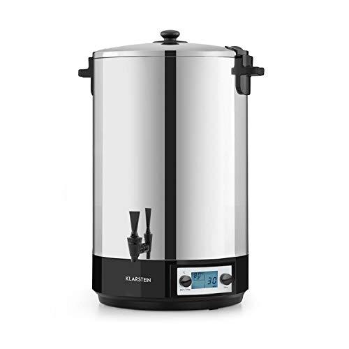 Klarstein KonfiStar 50 Digital Einkochautomat Einkochtopf Einkocher Heißgetränkespender, 50 Liter, 2500 Watt, 30-100 °C, Timer, Warmhalte-Funktion,...