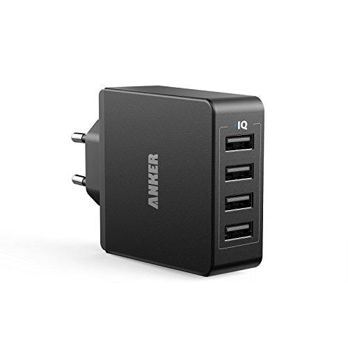 Anker 36W 5V / 7.2A 4 Port USB Ladegerät Wand Ladeadapter mit PowerIQ...