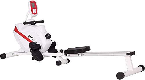 SportPlus Rudergerät klappbar für zuhause, TÜV geprüft, leises & wartungsfreies Magnetbremssystem, kugelgelagerter Rudersitz, Trainingscomputer,...