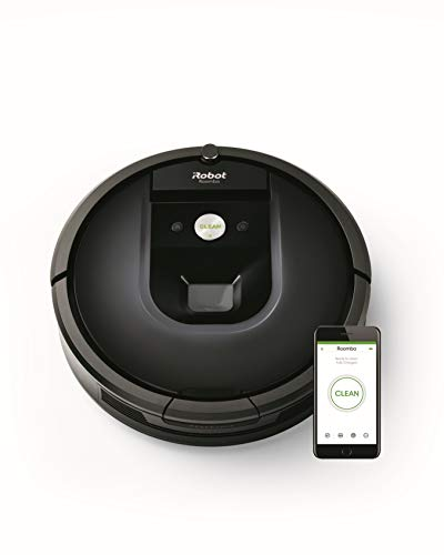iRobot Roomba 981 Saugroboter mit 3-stufigem Reinigungssystem, Raumkartierung, Teppich-Turbomodus, zwei Multibodenbürsten, WLAN Staubsauger Roboter...