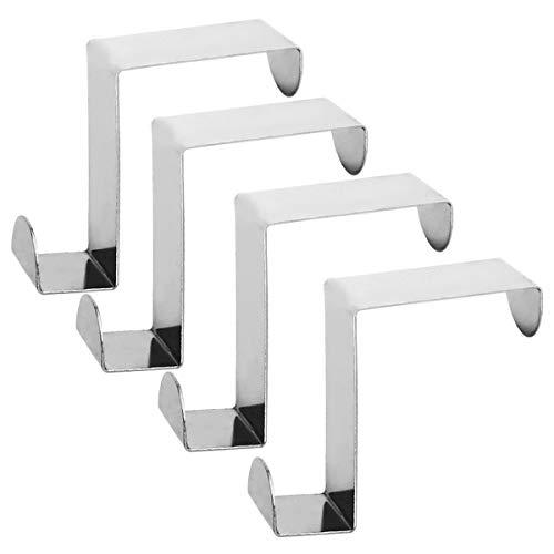 Juego de Ganchos para Puerta de Gancho para Ropa para la Puerta se Puede Usar Individualmente y sin taladrar com-four/® 8 Piezas