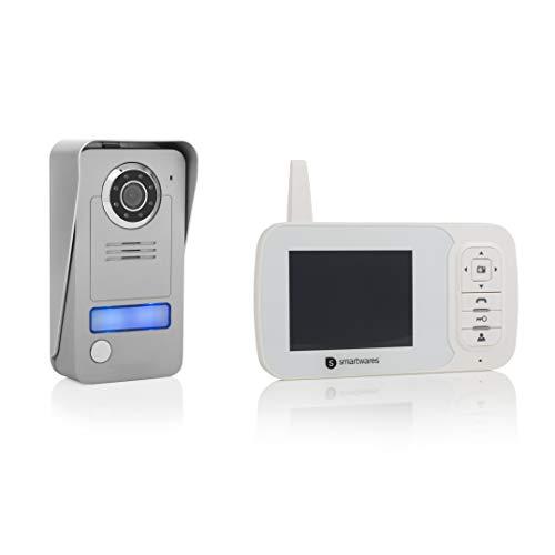 Smartwares VD38W Drahtlose Videotürsprechanlage mit Nachtsichtfunktion
