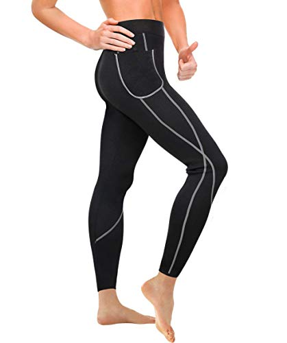 Gotoly Damen Neopren Sporthose Gewichtsverlust Sauna Hose Abnehmen Leggings Yoga...