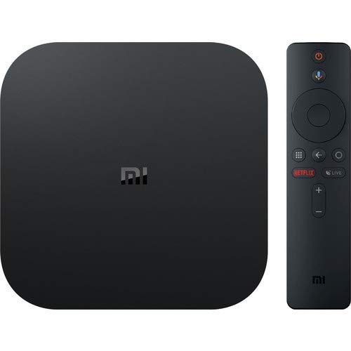 Xiaomi Mi Box S (EU-versjon) 4K Ultra HD Media Player med Google Assistant fjernkontroll, Bluetooth, HDMI) 4K HDR, Dolby Audio, DTS HD, Android 8.1 ...