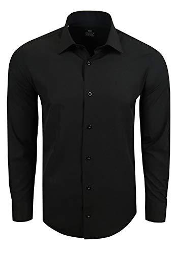 Rusty Neal Premium Basic Stretch Heren Overhemd Business Slim ...