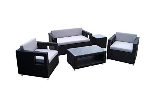 Rattan Lounge Set - Polyrattan Gartenmöbel Garnitur...
