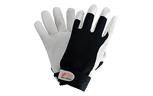 12 Paar NITRAS 8910 Dexter 2 Mechanikerhandschuhe Werkstatthandschuhe Handschuhe mit Klettverschluss Gr/ö/ße:9
