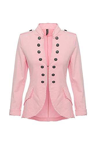 Eitex женский пиджак, женская куртка в стиле милитари, размер от 34/36 до 44/46 в стиле милитари, длинный и короткий (короткий розовый, 40/42)