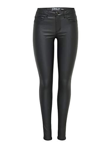 ONLY Damen onlROYAL R SK Rock Coated PNT PIM NOOS Skinny Jeans, Schwarz (Black),...