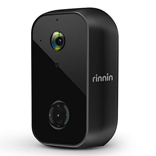 Überwachungskamera Aussen Akku WLAN IP Kamera, Rinnin 1080P Kabellose Outdoor...