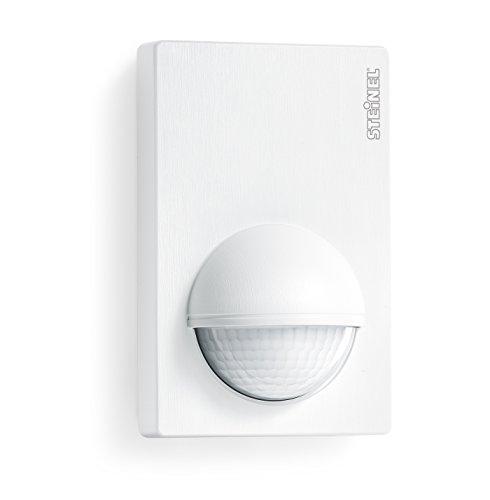 Steinel Bewegunsmelder IS 180-2 weiß, 180° Passiv-Infrarot Bewegungssensor, Dämmerungssensor für Innen- und Außenbereich