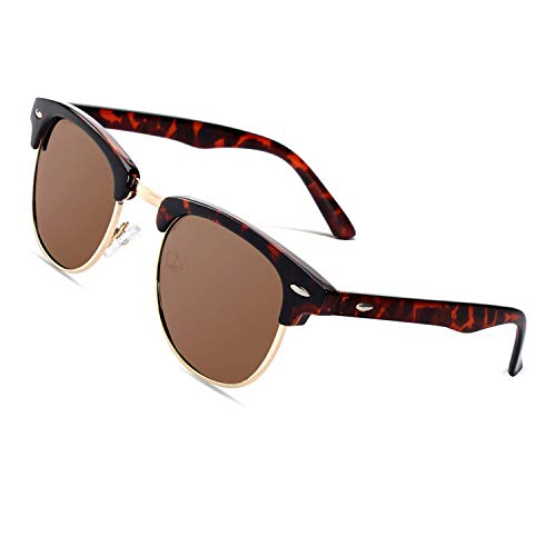 CGID MJ56 Retro Vintage Sunglasses in trendy 60er Browline style with distinctive half frame ...