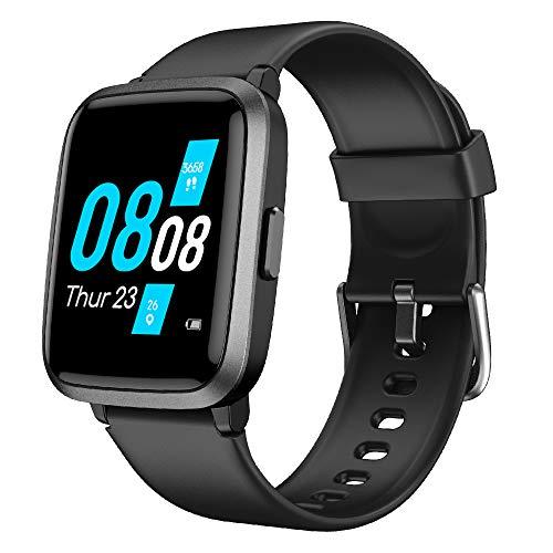 YAMAY Smartwatch,Fitness Armbanduhr mit Blutdruck Messgeräte,Pulsoximeter,Pulsuhren Fitness Uhr Wasserdicht IP68 Fitness Tracker Schrittzähler Uhr...