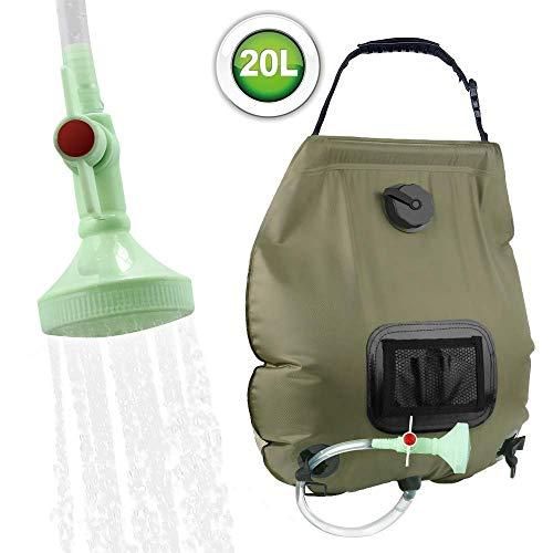 Campingdusche mit Tauchpumpe Tragbar Outdoor Dusche Wasserpumpe f/ür Camping Zooma Tragbare Duschen Camping Dusche