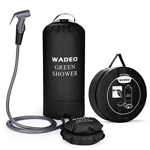 WADEO Campingdusche mit Pumpe, Druckdusche Dusche Tasche Reisedusche 15 Liter...