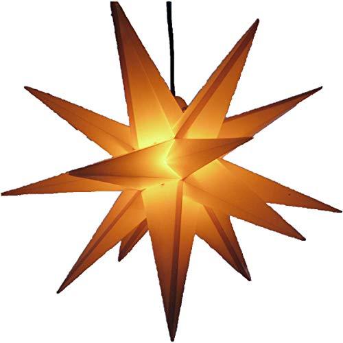 Außenstern gelb - beleuchteter Stern 55-60 cm Adventsstern Weihnachtsstern...