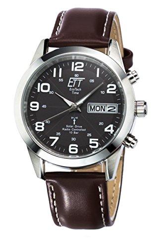 ETT Eco Tech Time Funk Solar Herren Uhr Analog mit Leder Armband EGS-11251-22L