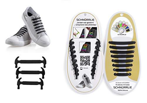 HOMAR No Tie Shoelaces für Kinder und Erwachsene wasserdichte Silikon Flache elastische Sportlauf Schnürsenkel mit Multicolor für Sneaker Stiefel