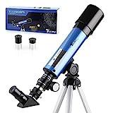 TELMU Astronomical Telescope Light Telescope zoom Portable refractor with tripod Children's telescope with 45 ...