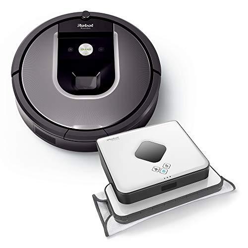 iRobot Roomba Volks-Saugroboter 960 plus Braava 390t Wischroboter im Set: Roomba saugt und Braava wischt, hohe Reinigungsleistung auf allen Böden,...