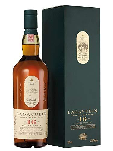 Lagavulin 16 Jahre Single Malt Scotch Whisky – Trockener und rauchiger Islay Whisky mit langem, torfigem Abgang – In traditioneller Geschenkbox...
