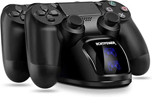PS4 Controller Ladestation, ECHTPower Dual Dualshock 4 Ladegerät Charger,...