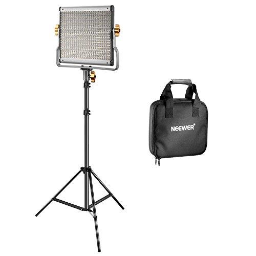 Neewer Dimmbare Bi-Farbe 480 LED Video Lichtstand Beleuchtung Set beinhaltet:...