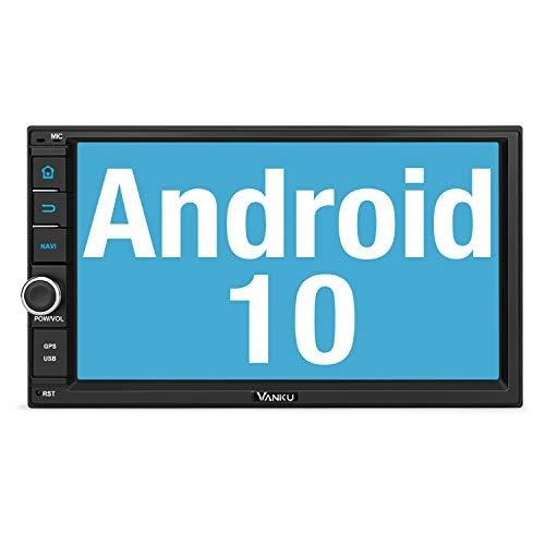 Vanku Android 10 Autoradio Radio mit Navi Unterstützt Qualcomm Bluetooth 5.0...