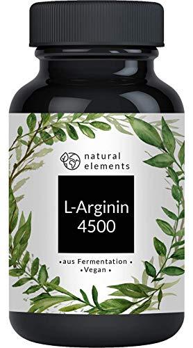 L-Arginin - 365 vegane Kapseln - 4500mg pflanzliches...