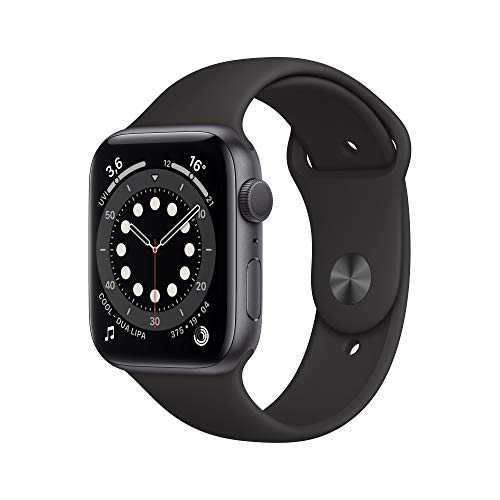 Apple Watch Series 6 (GPS, 44 mm) Aluminiumgehäuse Space Grau, Sportarmband...