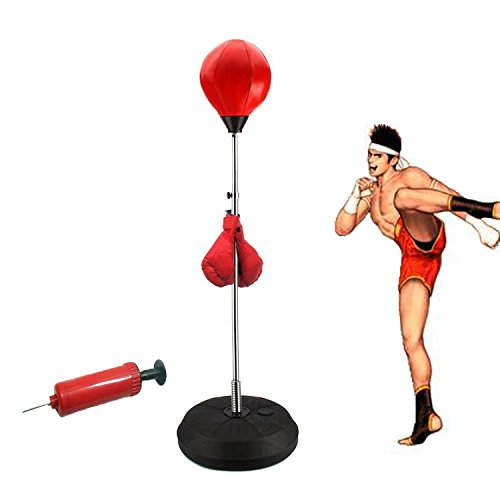 CARESHINE Standing Punching Bag Adult Punching Ball Speed Bag Boxing Set with Boxing Gloves and Pump