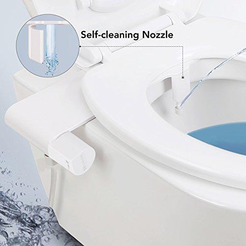 MARNUR Bidet Toilettenaufsatz mit Frischwasserspray und Selbstreinigender Düse und Hygienisch Schutzgitter Nicht elektromechanisch einfache Bedienung...