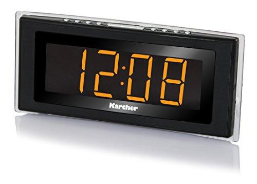 Karcher UR 1080 Uhrenradio (PLL-FM-Radio, Raumtemperaturanzeige, LED-Stimmungslicht, dimmbares Display, Dual-Alarm, Wochenend/Nap/Snooze-Funktion,...