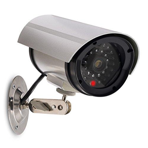 kwmobile Kamera Dummy Überwachungskamera Attrappe - Fake Camera mit rotem LED...