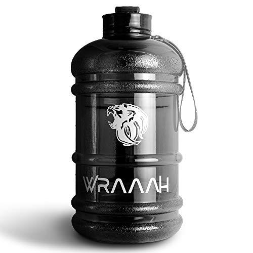 WRAAAH Trinkflasche Sport 2L - Extra Robuste 2 Liter XXL Fitness Flasche für...