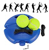 Fostoy Tennis Trainer Set, Tennis Trainer Equipment Base with Cord and 2 Rebound Balls for Solo ...