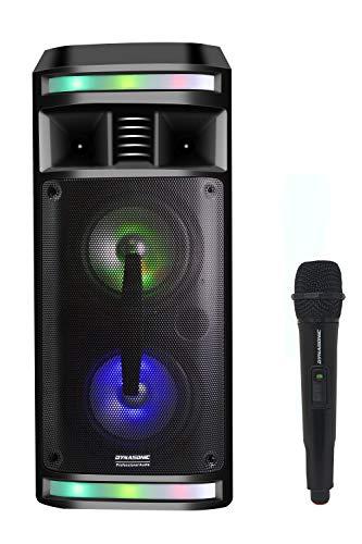 DYNASONIC DY-65201 Party-Soundsystem Mobile Discosoundmaschine Lautsprecher...