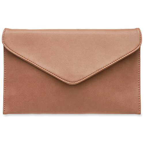 Caspar TA310 women's clutch, color: nude