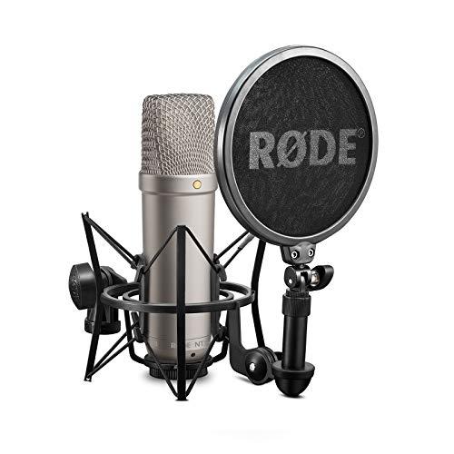 Rode NT-1A Großmembran-Kondensatormikrofon mit goldbedampfter und elastisch...