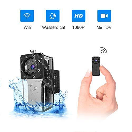 Wasserdichte Wlan Mini Kamera, NIYPS Full HD 1080P Kleine Überwachungskamera, Mikro Wifi Nanny Cam mit Bewegungserkennung und Infrarot...