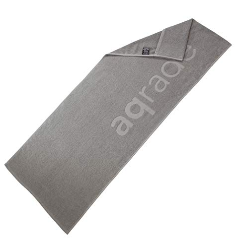 aqrade Sporthandtuch I Fitness Handtuch mit Fixierung I 120x50cm I Gym Handtuch aus 100% Baumwolle I anthrazit I XL